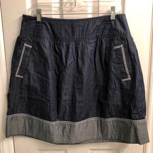 K Jordan Denim 2 Pocket Side Zip Skirt